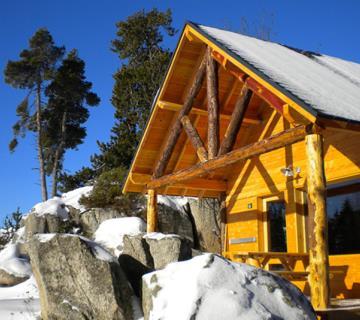 Huttopia chalet hiver 1