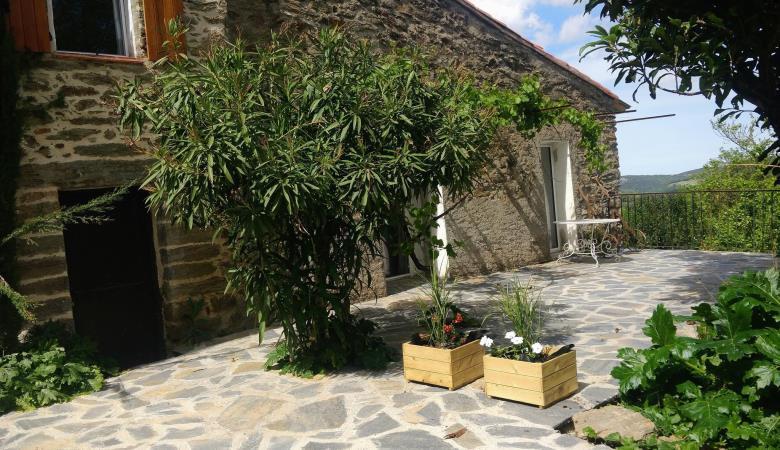 Séparation des terrasses privatives de Can bassou _19
